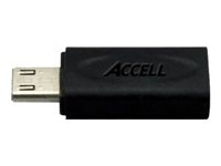 Accell - Video/audio-adapter - MHL / HDMI - 11 pin Micro-USB (MHL) (hann) til Micro-USB Type B (hunn) J161B-001B
